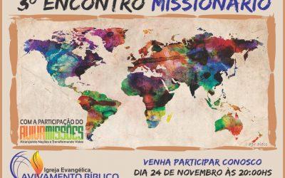 3º ENCONTRO MISSIONÁRIO EM MARÍLIA/SP.